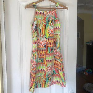 crown & ivy mod pineapple print dress